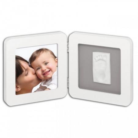 Portafoto con impronta White&Grey BabyArt