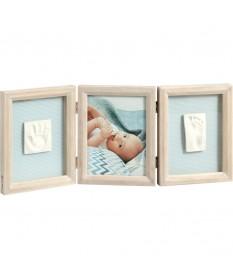 Portafoto con impronte triplo BabyArt