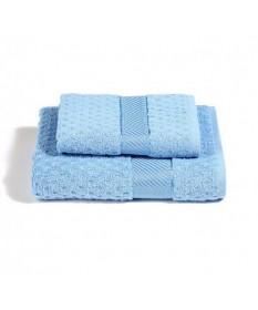 Asciugamani-Caleffi-set-viso+ospite-azzurrochiaro