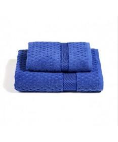Asciugamani-Caleffi-set-viso+ospite-blu