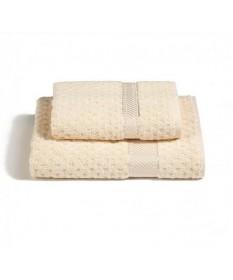 Asciugamani-Caleffi-set-viso+ospite-avorio