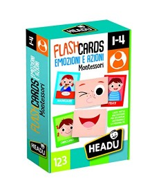 Flashcards Emozioni e Azioni, Giochi Linea Montessori - HEADU
