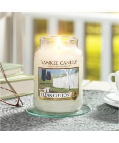Candela Profumata Yankee Candle - Clean Cotton