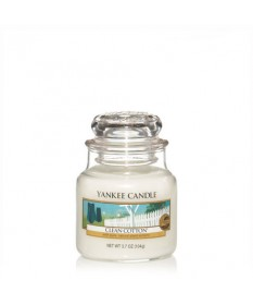 Candela Profumata Yankee Candle - Clean Cotton - giara piccola