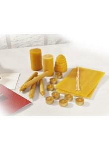 Set artigianale di candele in cera d'api