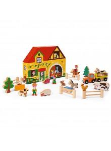 Gioco Educativo Story Box Fattoria in legno - Janod
